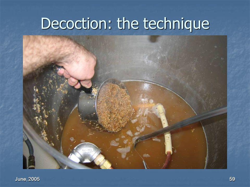 June, 200559 Decoction: the technique