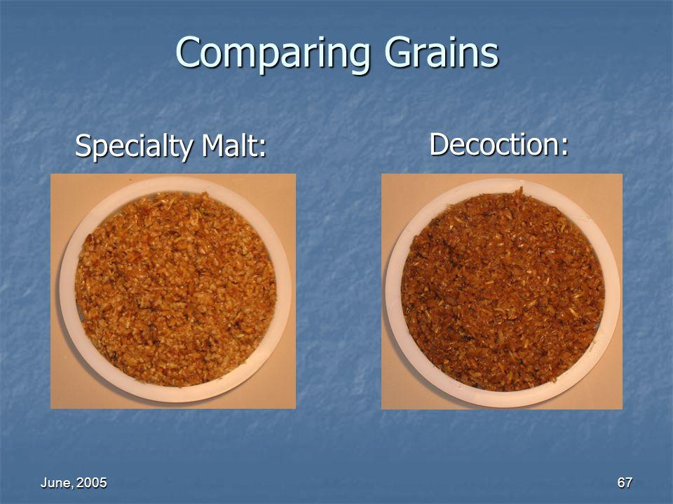 June, 200567 Comparing Grains Decoction: Specialty Malt: