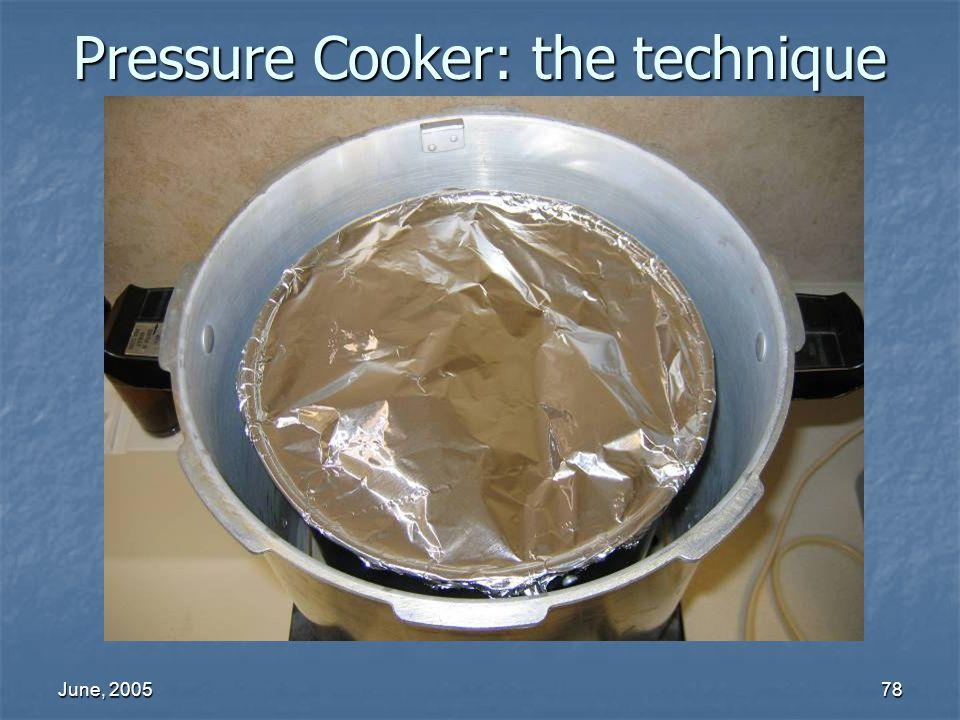 June, 200578 Pressure Cooker: the technique