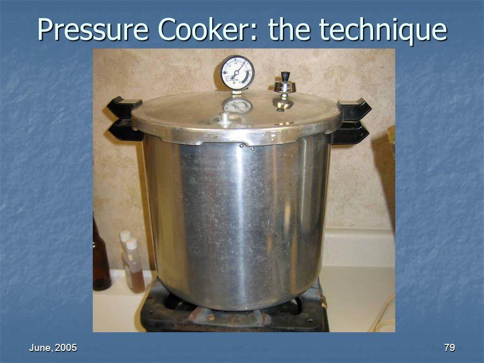 June, 200579 Pressure Cooker: the technique