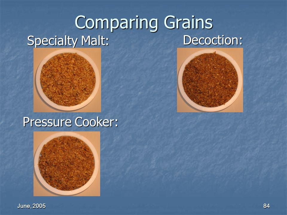 June, 200584 Comparing Grains Decoction: Specialty Malt: Pressure Cooker: