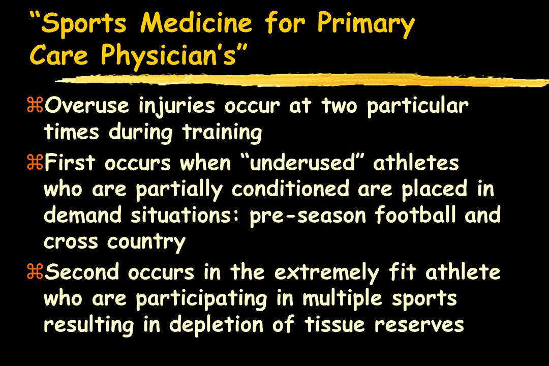 Sports Medicine for Primary Care Physicians Little League Elbow zMedial elbow pain in tennis players, javelin throwers, and football quarterbacks zComplex grouping of injuries involving medial epicondylar fractures, medial apophysitis, and ligamentous injuries zPain is the most common complaint zDuration of pain aides in the diagnosis