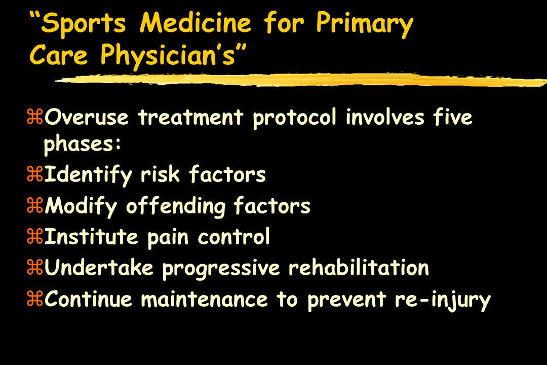 Sports Medicine for Primary Care Physicians zMust Understand the Healing Process of the different ligaments zCollateral Ligaments have a rich blood supply from the surrounding tissue and heals well with conservative care zCruciate Ligaments have a sparse blood supply from surrounding tissue and bone attachment and do not heal well with conservative care