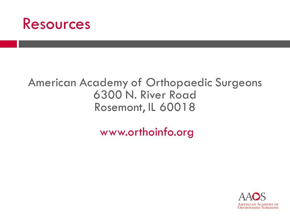 33 American Academy of Orthopaedic Surgeons 6300 N.