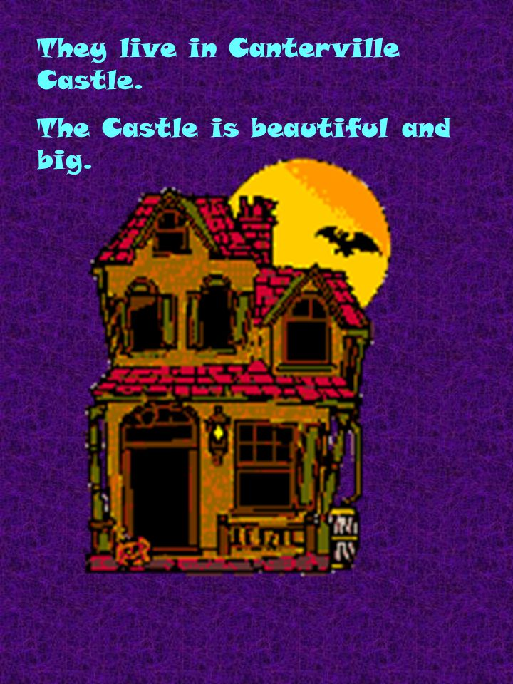 They live in Canterville Castle. The Castle is beautiful and big.