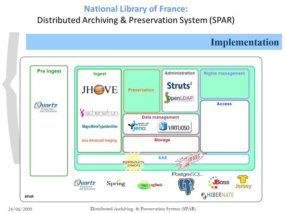 National Library of France: Distributed Archiving & Preservation System (SPAR)