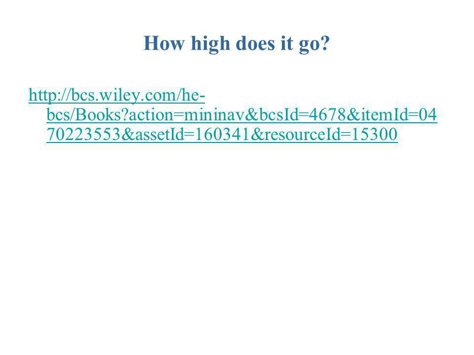 How high does it go? http://bcs.wiley.com/he- bcs/Books?action=mininav&bcsId=4678&itemId=04 70223553&assetId=160341&resourceId=15300
