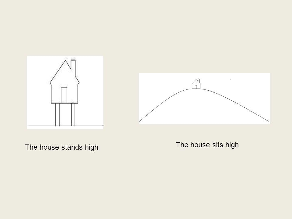 The house stands high The house sits high