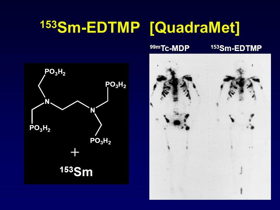 153 Sm-EDTMP [QuadraMet] 99m Tc-MDP 153 Sm-EDTMP N N PO 3 H 2 3 H 2 3 H 2 3 H 2 153 Sm +