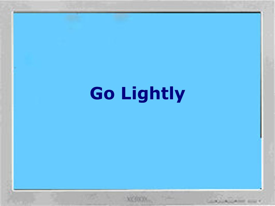 Position Yourself Avoid glare. Place your monitor away from light sources that produce glare, or use window blinds to control light levels. Reflective