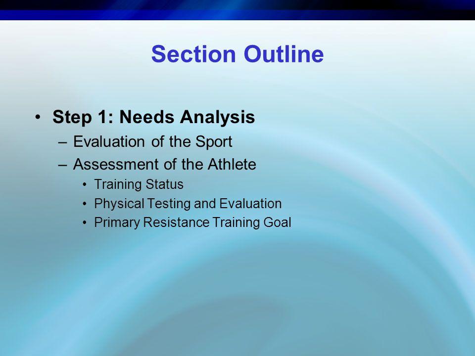 Step 6: Volume Primary Resistance Training Goal –Training volume is directly based on the resistance training goal.