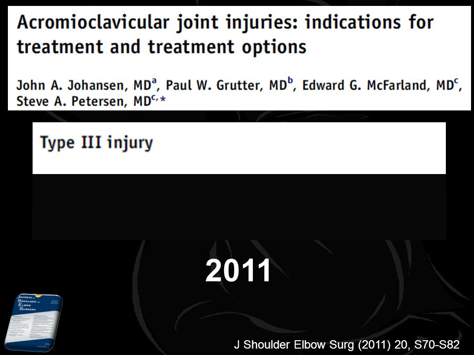 2011 J Shoulder Elbow Surg (2011) 20, S70-S82 2011
