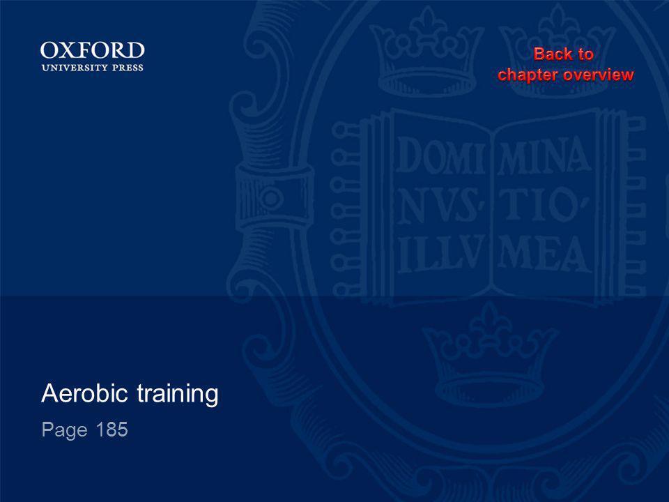 Aerobic training Page 185