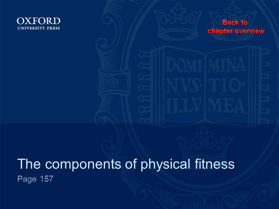 The components of physical fitness Page 157