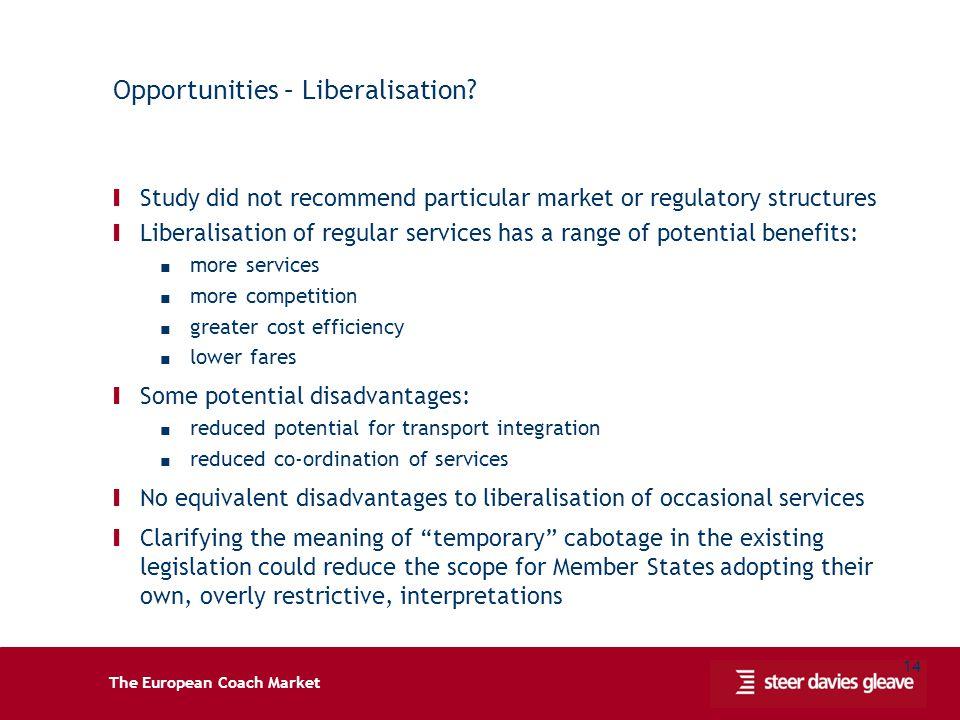 The European Coach Market 14 Opportunities – Liberalisation.