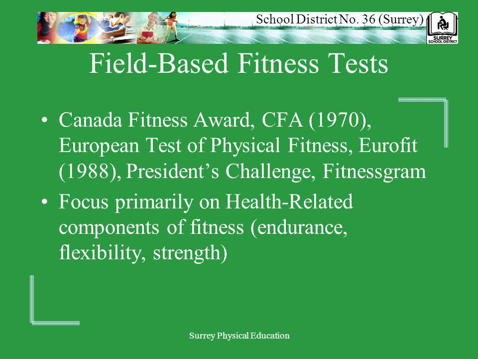 School District No.36 (Surrey) Surrey Physical Education What are we actually measuring.