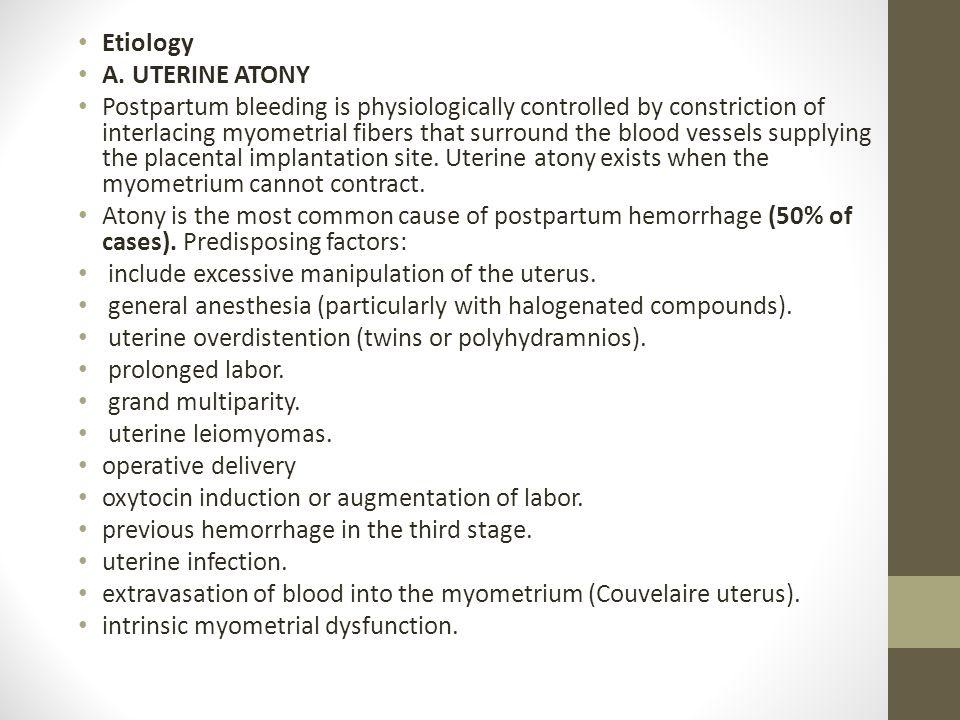 Etiology A.