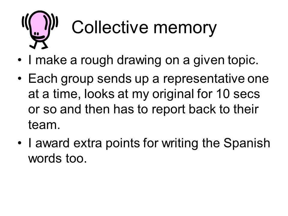 Collective memory I make a rough drawing on a given topic.