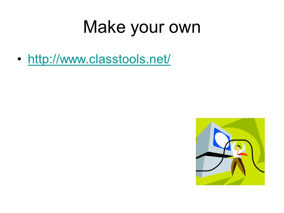 Make your own http://www.classtools.net/