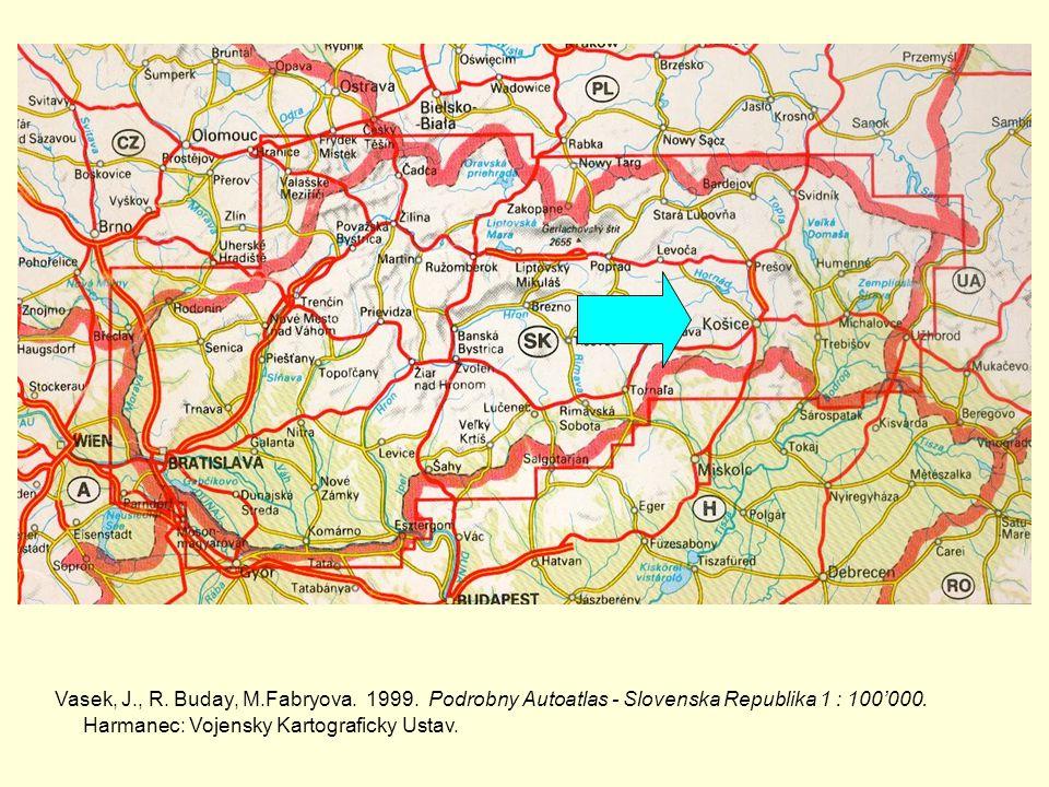 Vasek, J., R. Buday, M.Fabryova. 1999. Podrobny Autoatlas - Slovenska Republika 1 : 100000.