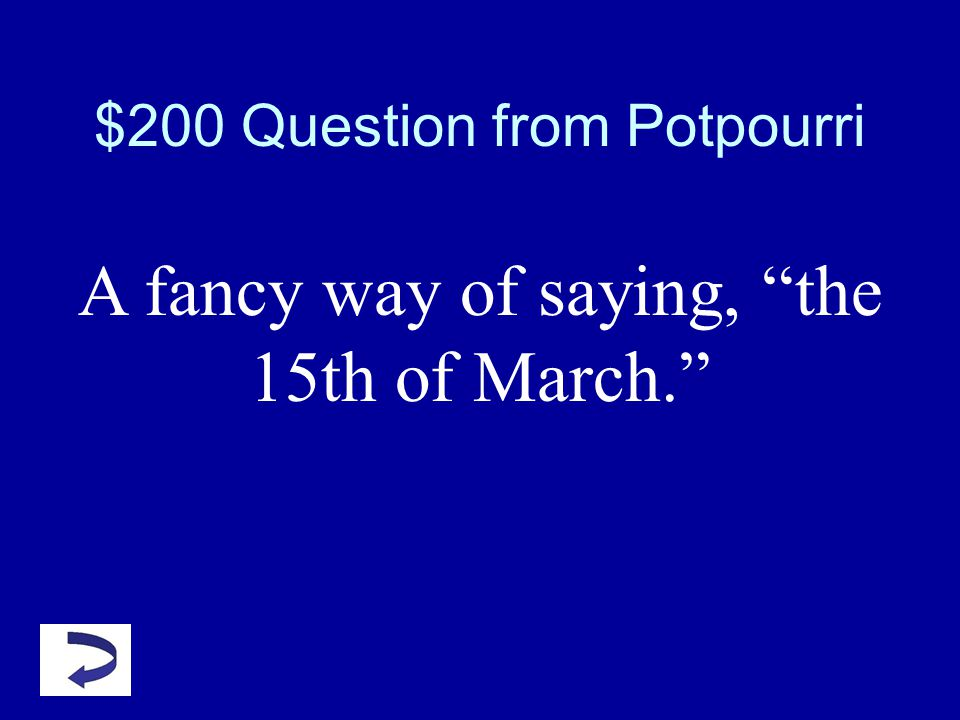 $100 Answer from Potpourri What is stabbing herself with a dagger?