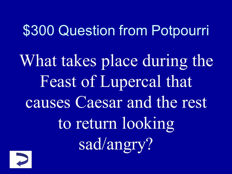 $200 Answer Potpourri What are the ides of March?