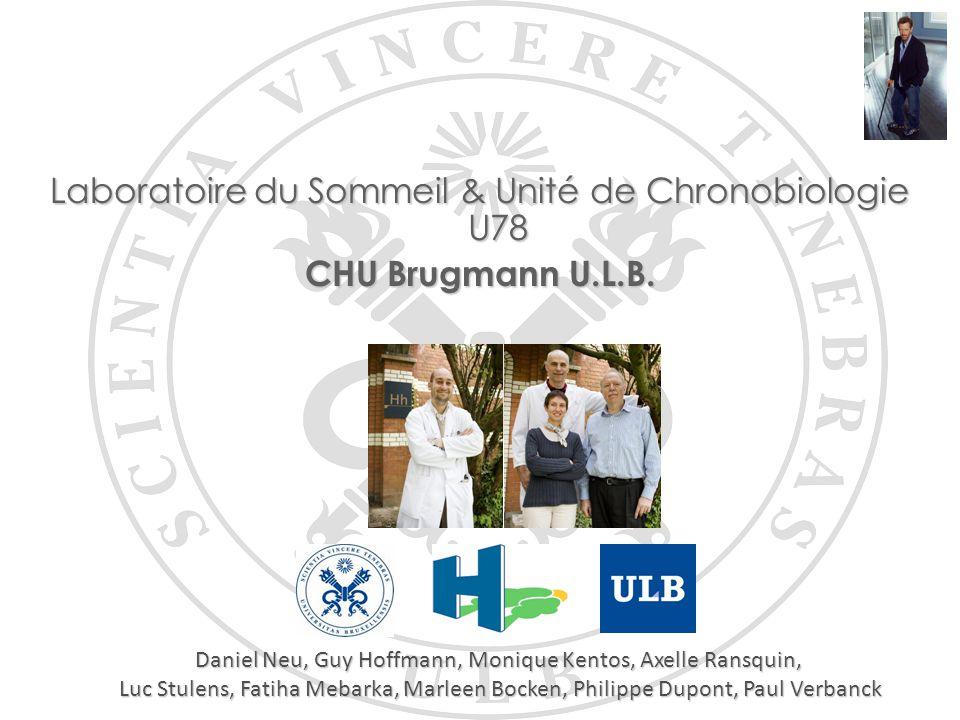 Laboratoire du Sommeil & Unité de Chronobiologie U78 CHU Brugmann U.L.B. Daniel Neu, Guy Hoffmann, Monique Kentos, Axelle Ransquin, Luc Stulens, Fatih