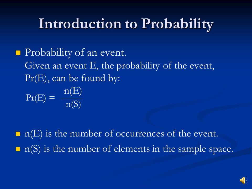 Probability Presented by Tutorial Services The Math Center
