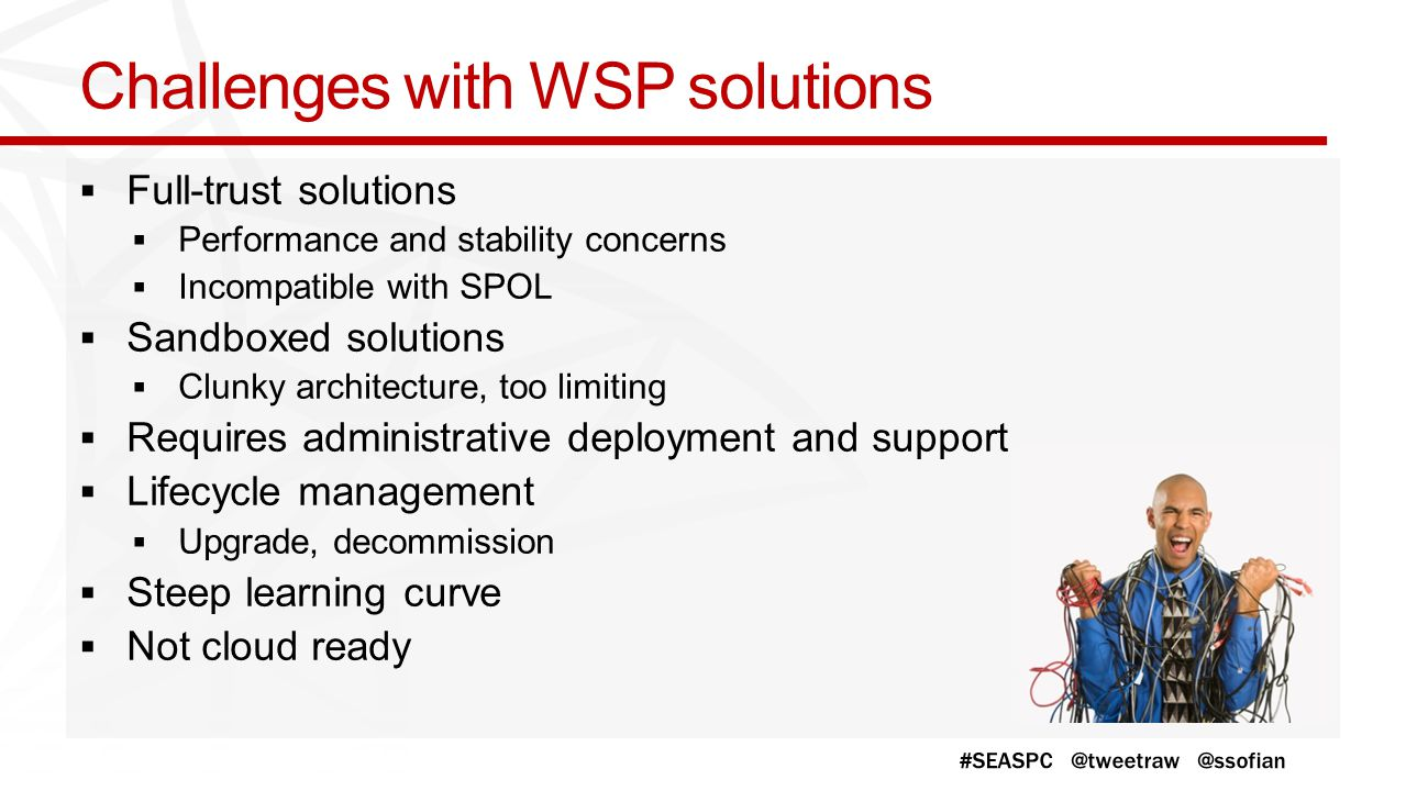 Challenges with WSP solutions