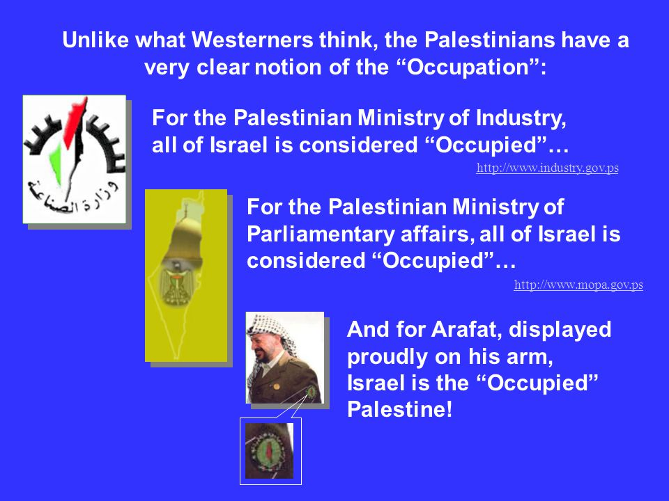 For the Palestinian Ministry of Industry, all of Israel is considered Occupied… Unlike what Westerners think, the Palestinians have a very clear notio