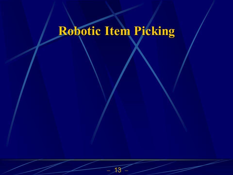 13 Robotic Item Picking