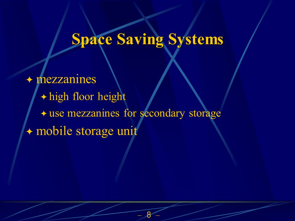 8 Space Saving Systems mezzanines high floor height use mezzanines for secondary storage mobile storage unit