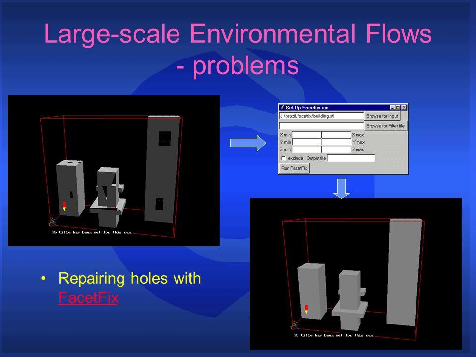Repairing holes with FacetFix FacetFix Large-scale Environmental Flows - problems
