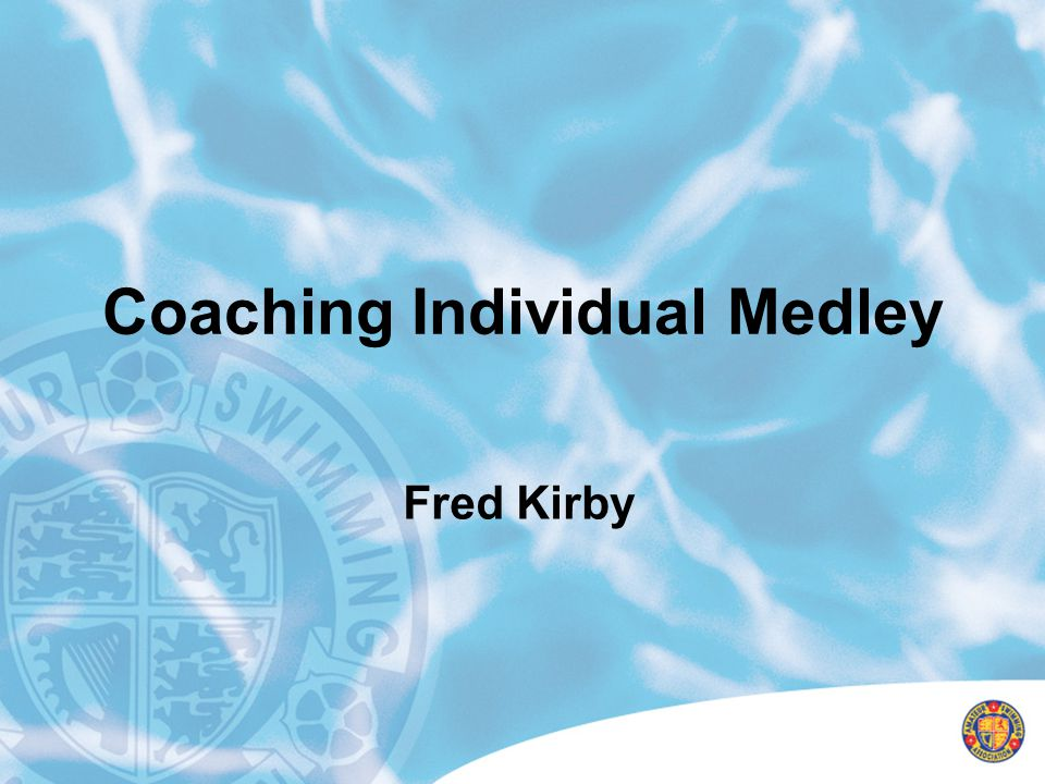 Training philosophy Middle distance/distance programme Attention to development of speed Medley based Aerobic and technical development Break point volume at maturation Land training programme to compliment pool work Do not impose senior training programme on age groupers Nutritionally sound