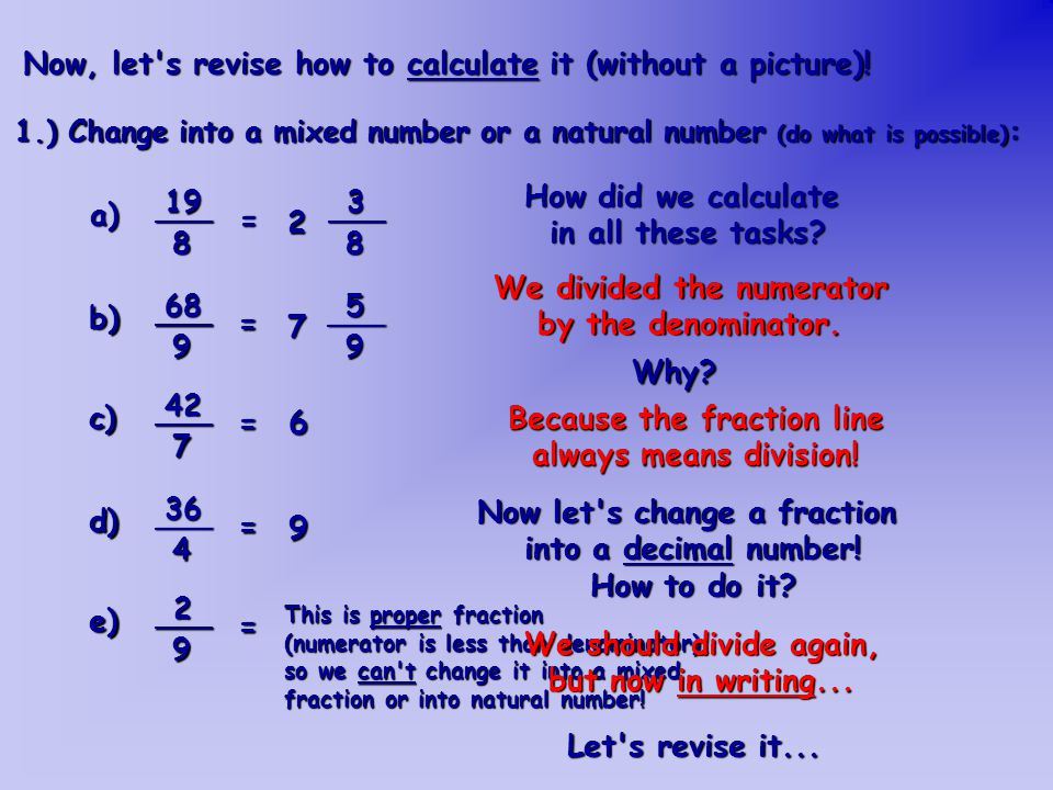 Let s change the number at task a) into a decimal number...