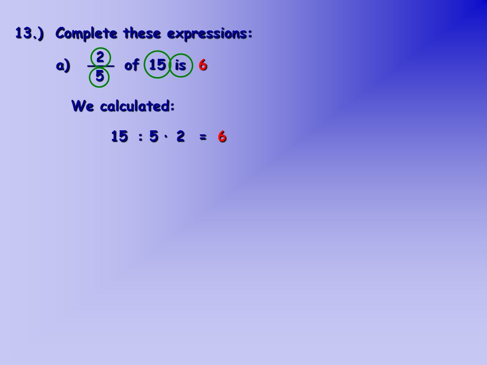How to explain this calculation.we divide it into 5 equal parts, and then color 2 parts.