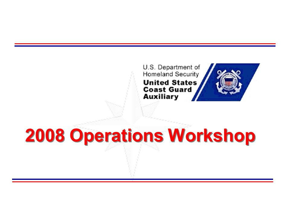 2008 Operations Workshop
