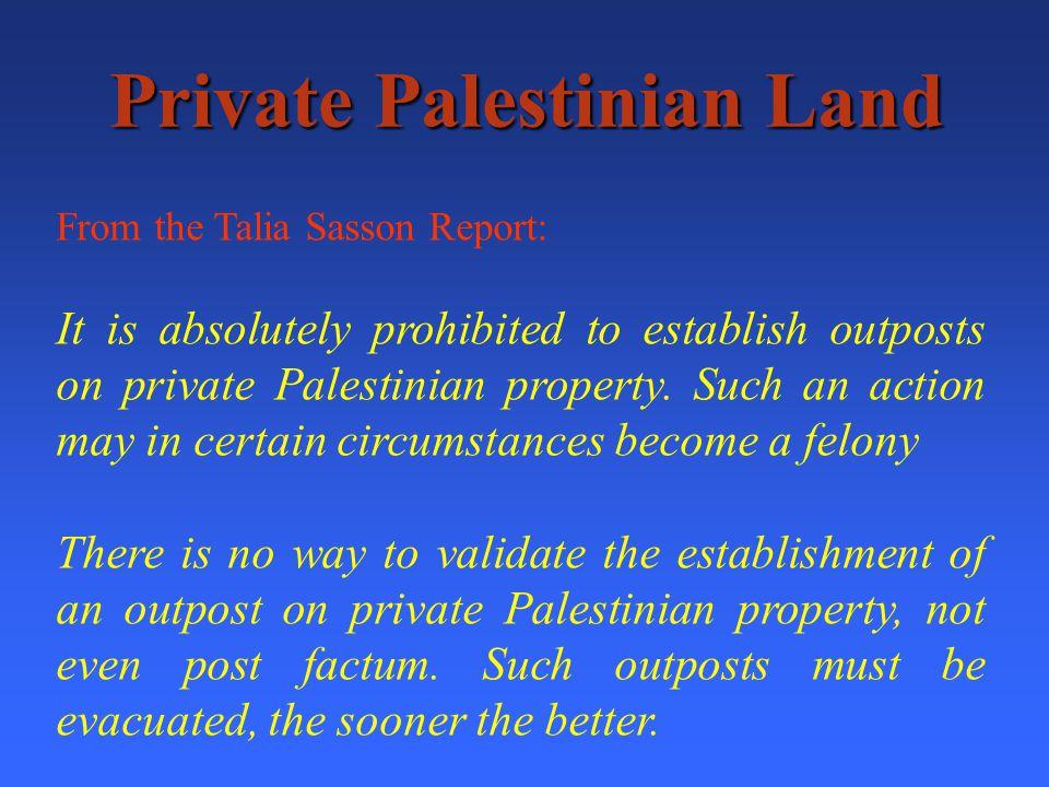 Ariel Private Palestinian Land - 35.1% Survey Land 1.9% Jewish Land0% State Land - 62.9%