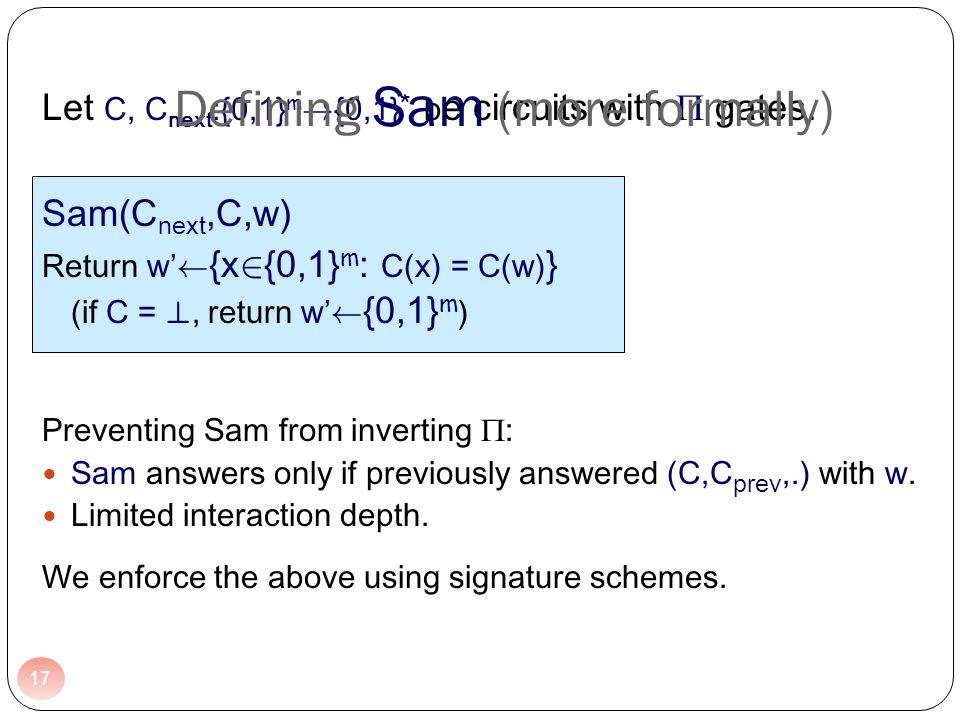 Let C, C next :{0,1} m . {0,1} * b e circuits with gates.