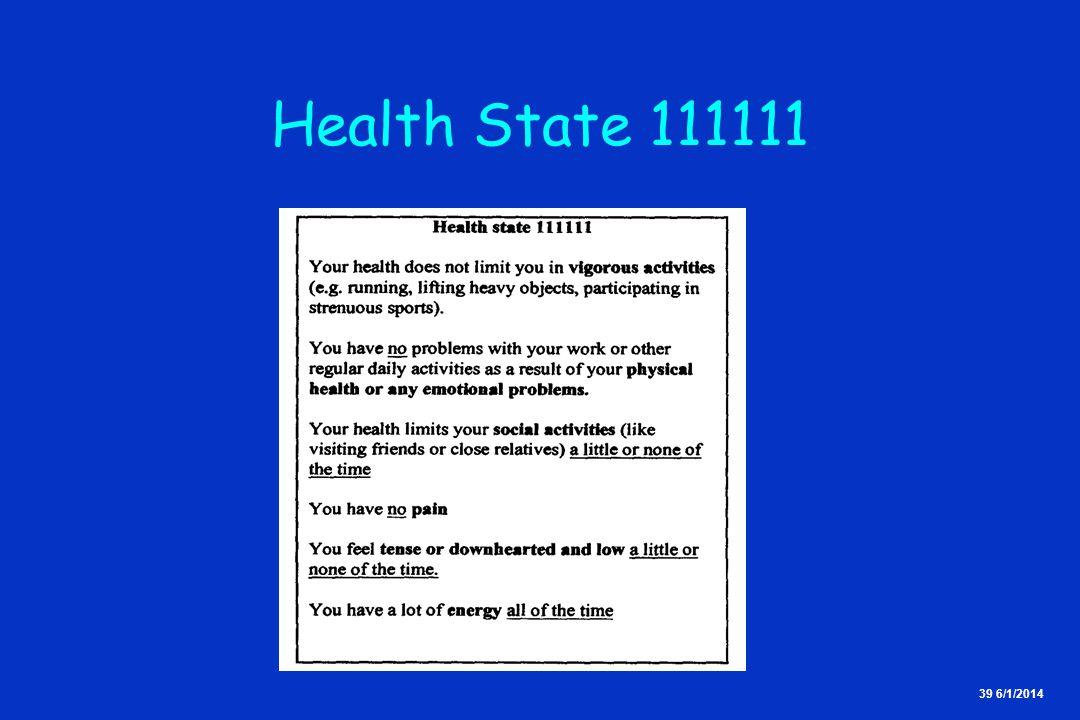 39 6/1/2014 Health State 111111