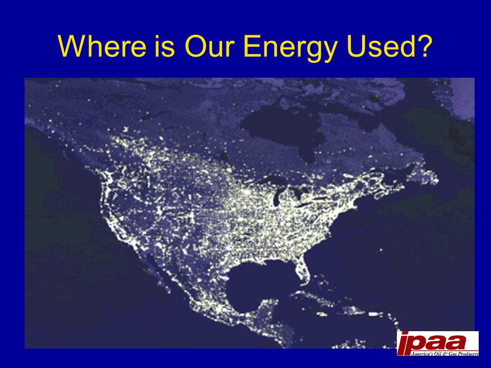 Where is Our Energy Used?