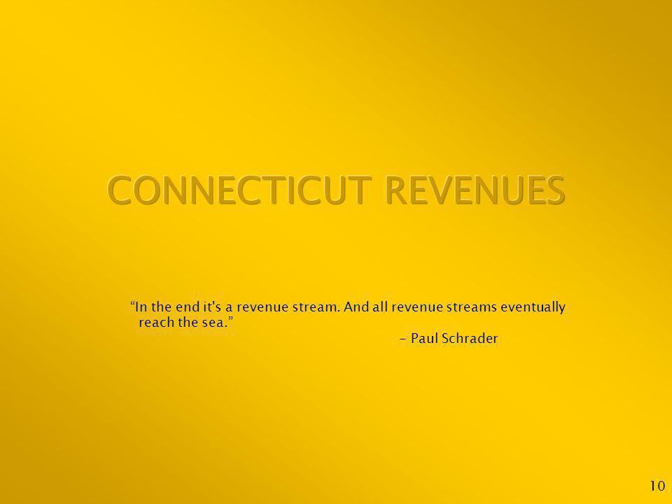 10 In the end it s a revenue stream. And all revenue streams eventually reach the sea.