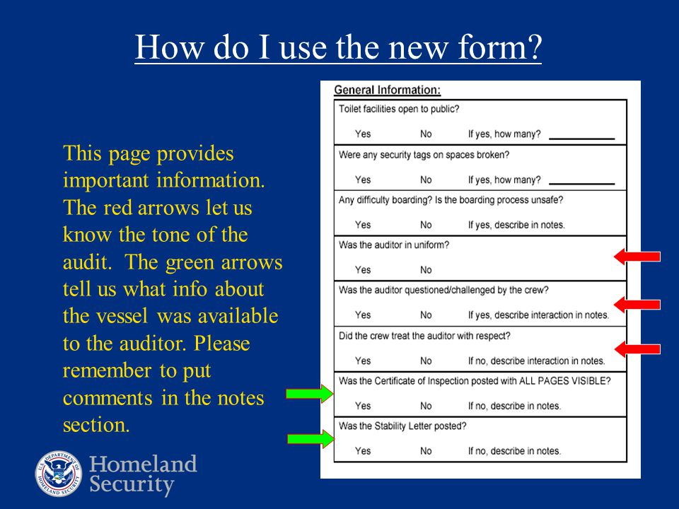 How do I use the new form. This page provides important information.