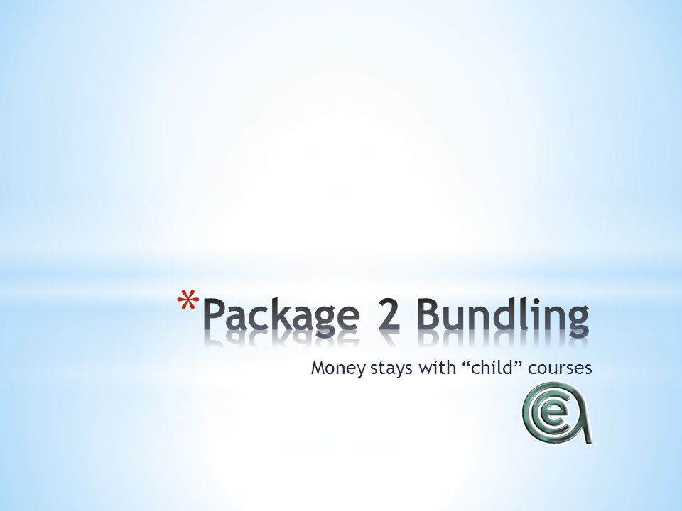 Money stays with child courses