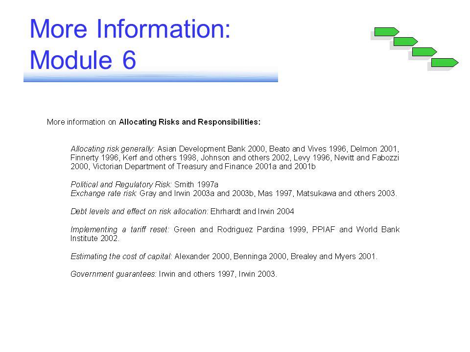 More Information: Module 6