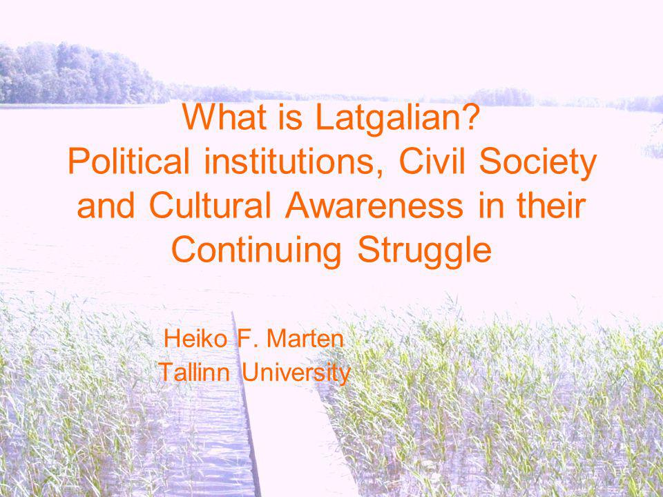 What is Latgalian.