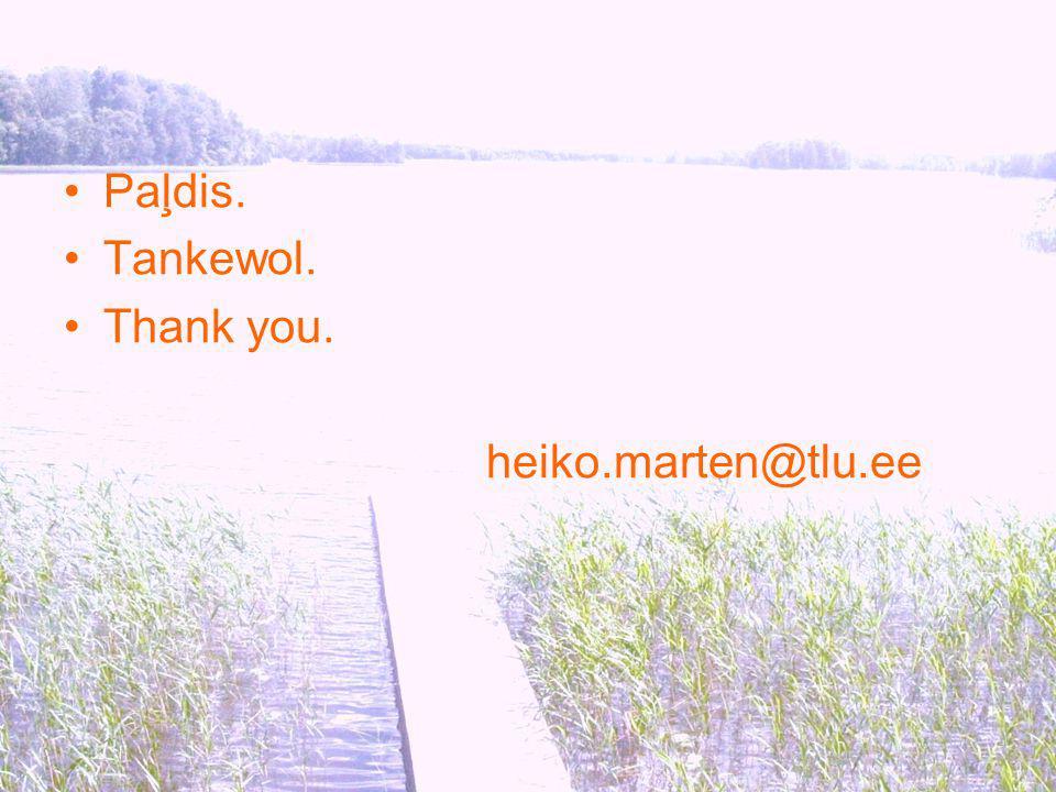 Paļdis. Tankewol. Thank you. heiko.marten@tlu.ee