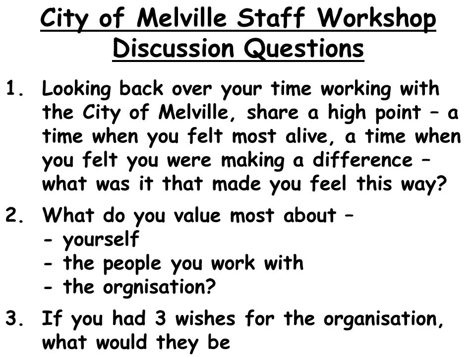 1.Looking back over your time working with the City of Melville, share a high point – a time when you felt most alive, a time when you felt you were making a difference – what was it that made you feel this way.