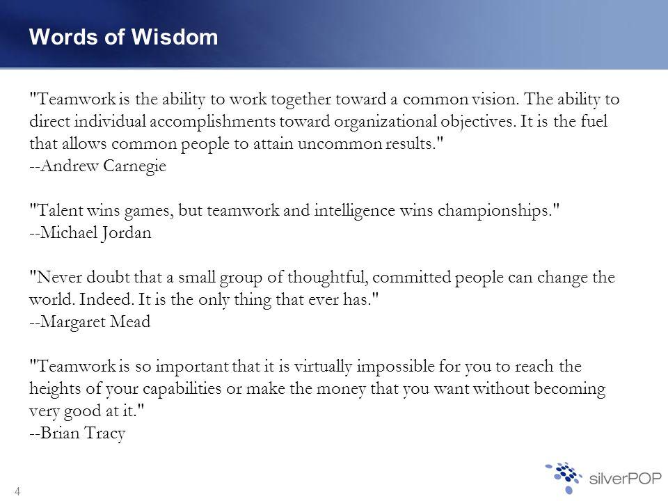 4 Words of Wisdom
