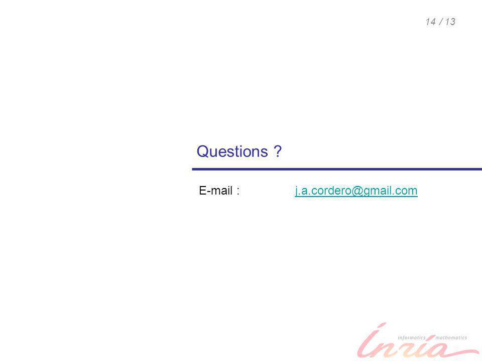 / 1314 Questions ? E-mail : j.a.cordero@gmail.comj.a.cordero@gmail.com